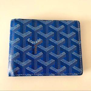 Goyard Bi-Fold Victoire PM Wallet Sky Blue